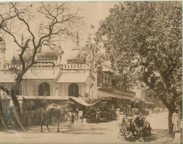 Delhi Street Scene - Vintage Photograph 1875