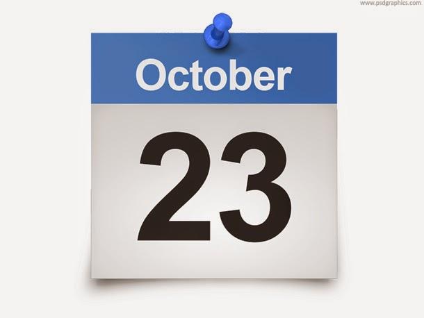 Daily Calendar Template PSD