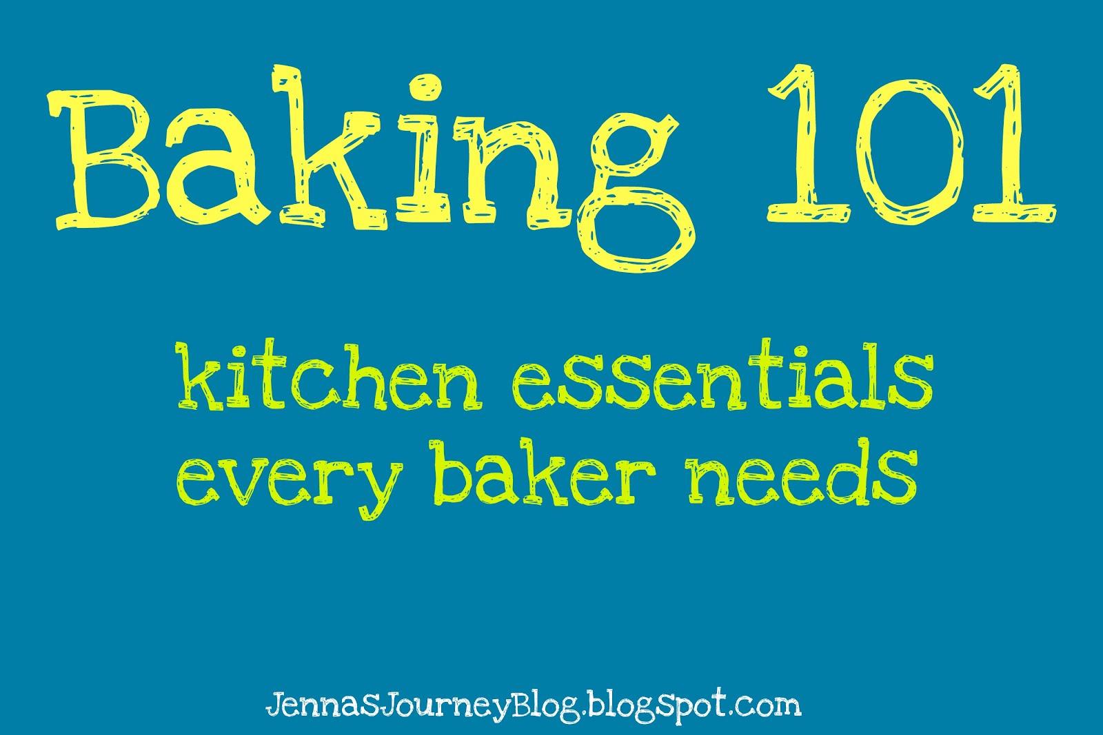 jenna blogs: baking 101 - kitchen essentials