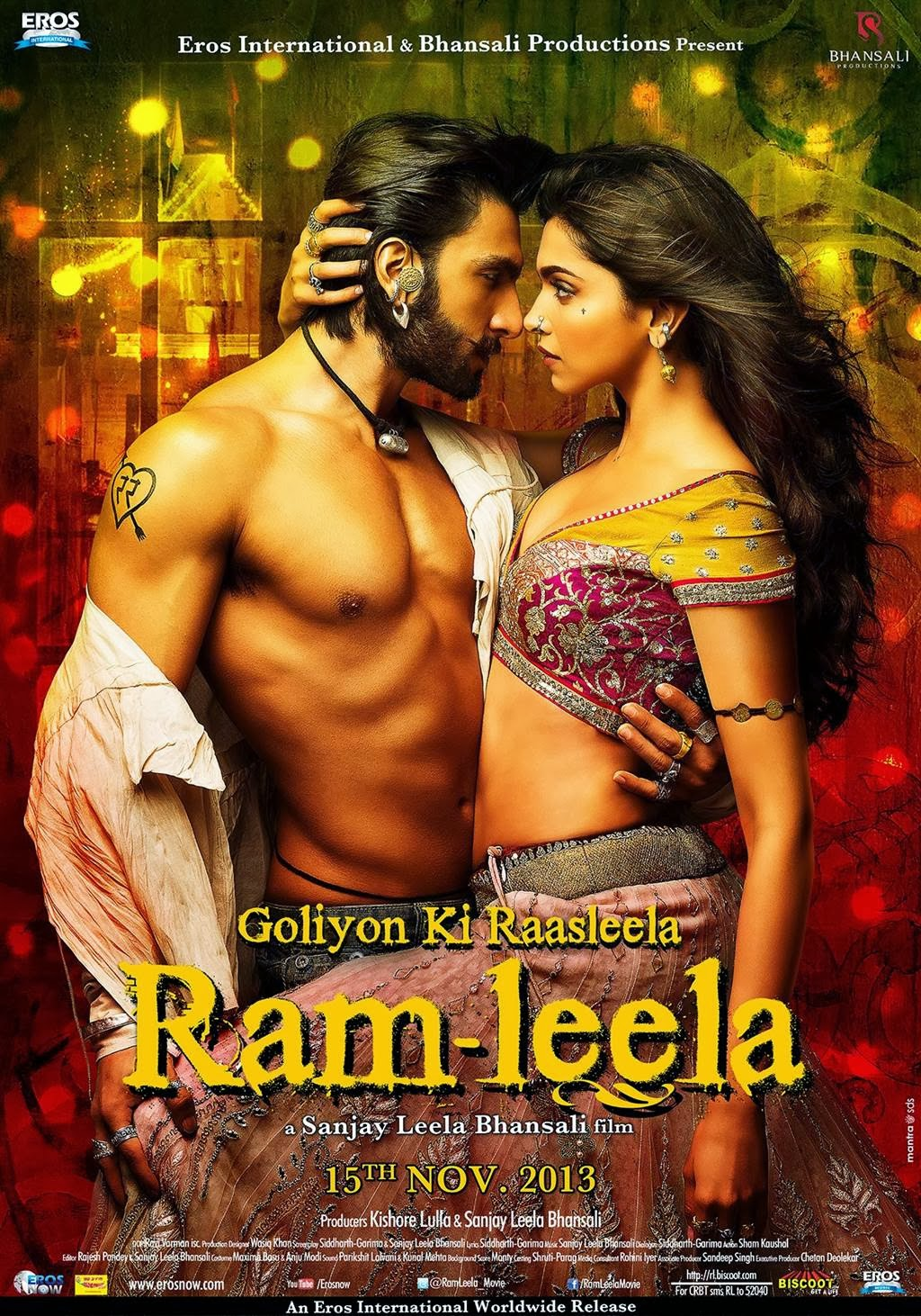 Watch Ram Leela (2013) Hindi DVDScr Full Movie Watch Online For Free Download