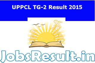 UPPCL TG-2 Result 2015
