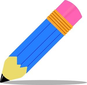 Blue Clip Art Pencil
