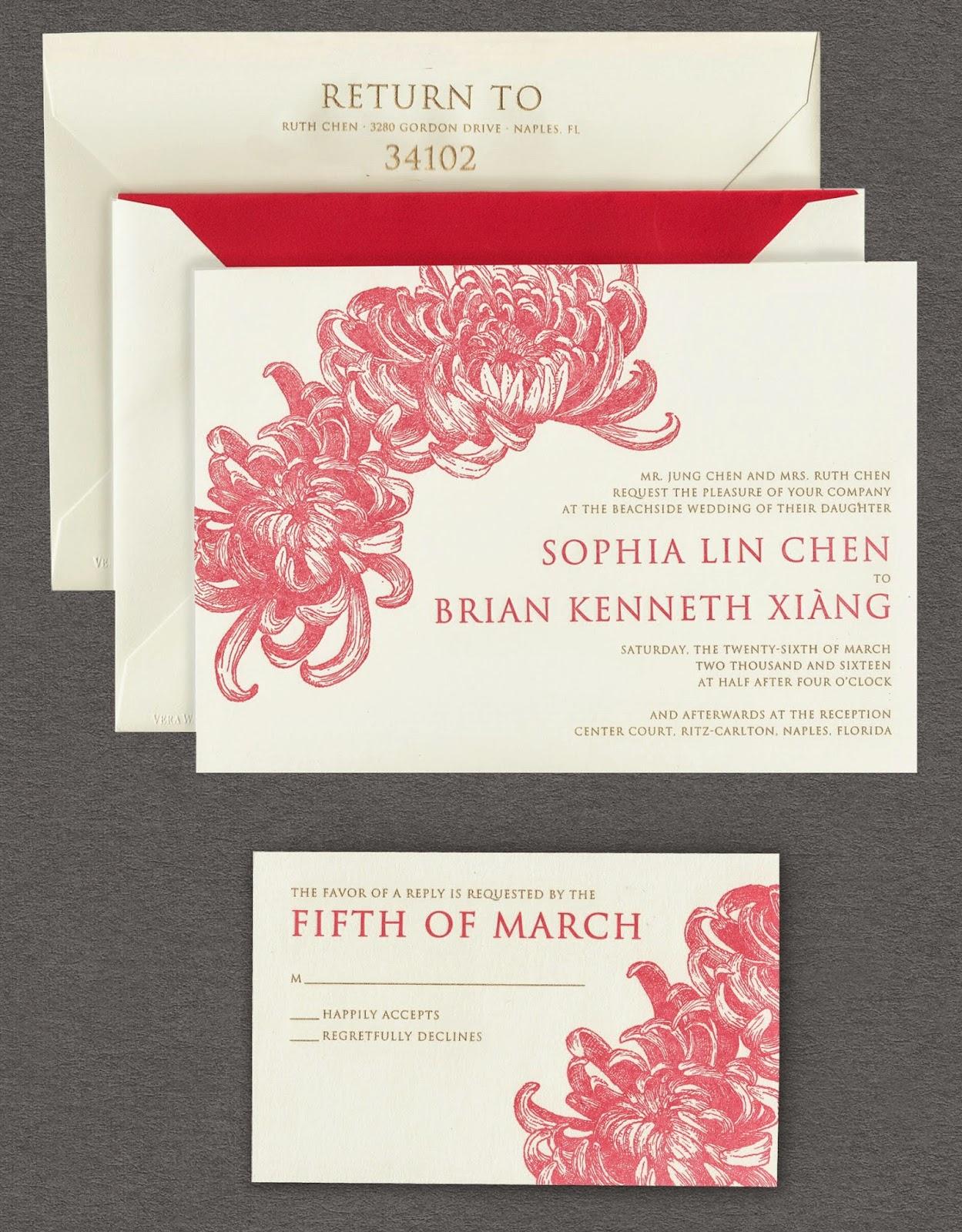 spring awakening invitations for garden wedding perfection - Vera Wang Wedding Invitations