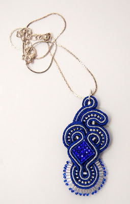 sutasz naszyjnik wisior soutache pendant necklace 24a