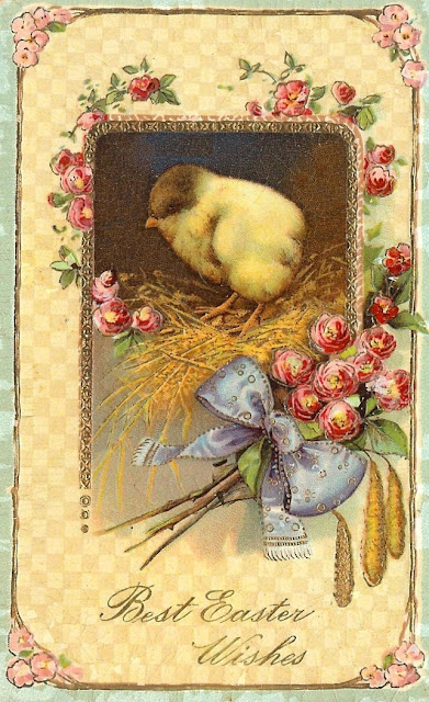 Antique Easter Postcard-royalty free-antique graphic-clip art-via knickoftimeinteriors.blogspot.com