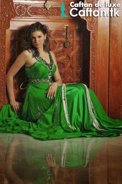 Caftan marocain | robe de soirée vert 2014