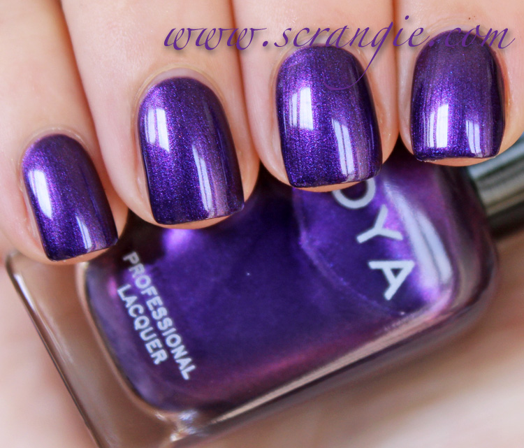 Metallic Royal Blue-Purple Shimmer Nail