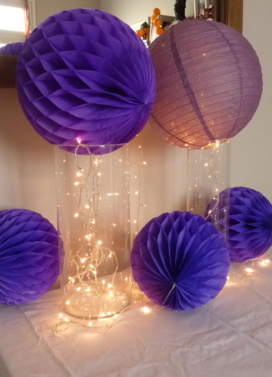 Arte color decoraci n con globos esferas y flores de for Decoracion con cenefas de papel