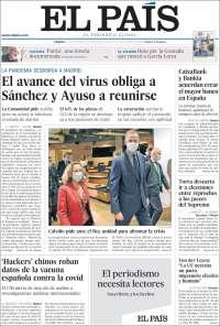 18/09/2020    ESPAÑA UNA  PRIMERA PÁGINA DE LA PRENSA