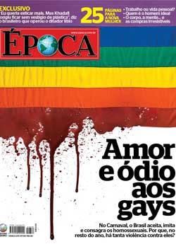 """Capa da revista Época aborda o """"amor e ódio aos gays"""""""