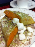 Green Tea Crepe with Sweet Potato