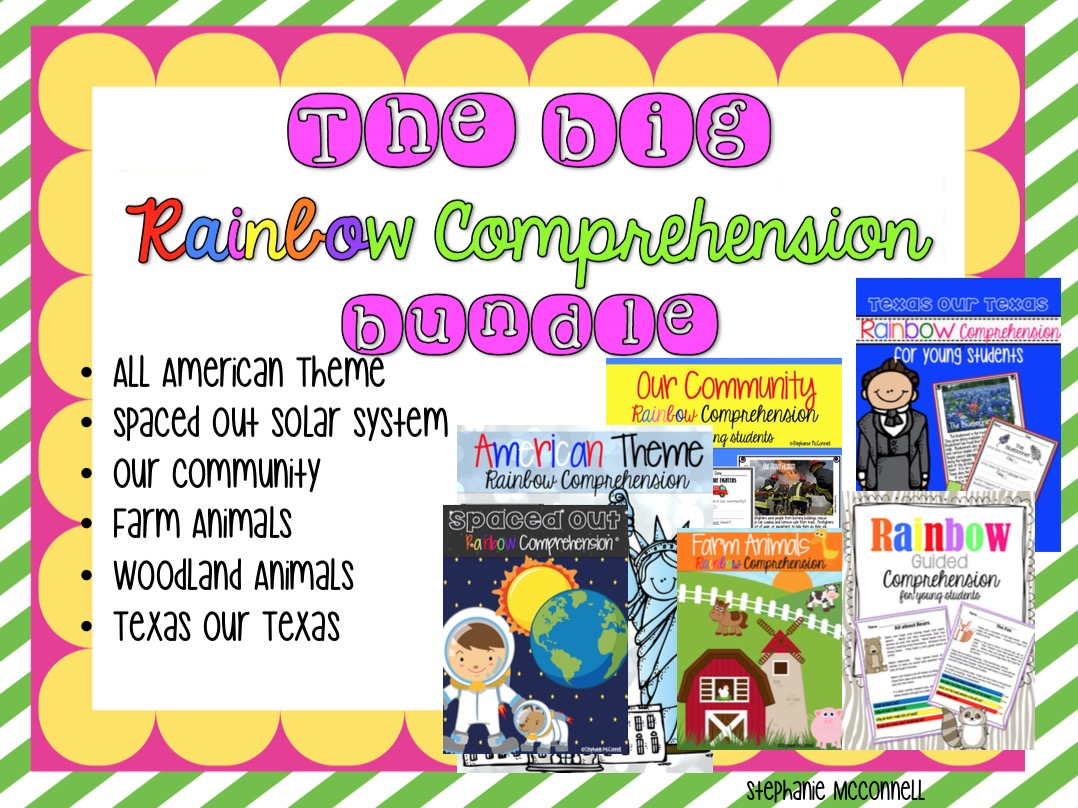 https://www.teacherspayteachers.com/Product/The-Big-Rainbow-Comprehension-Bundle-All-6-themes-1194949