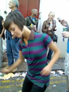Girl dancing at Notting Hill Carnival 2008