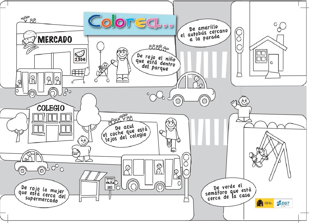Educación Vial: Para imprimir y colorear