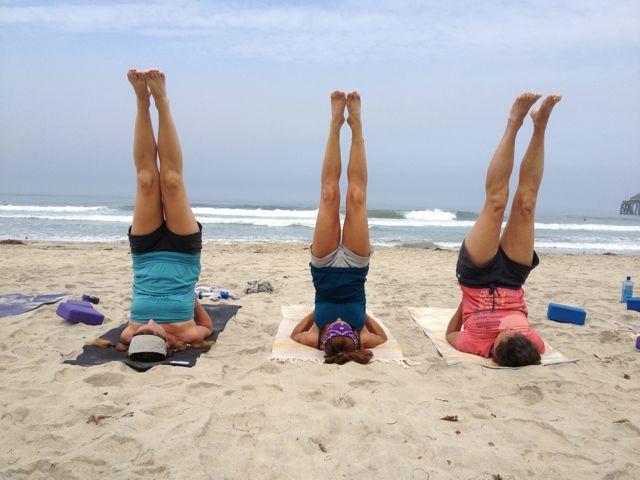 yoga girl on beach.2 1
