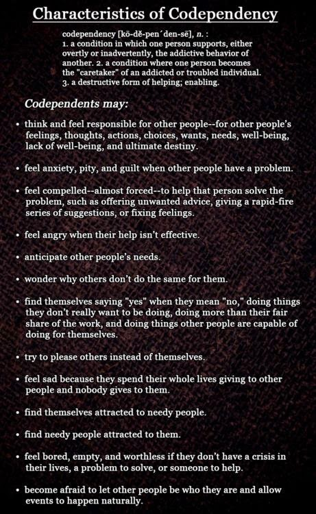codependent symptoms ending a relationship