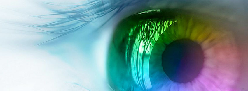Latest FB Covers: Colourful Eye HD Latest Facebook Cover