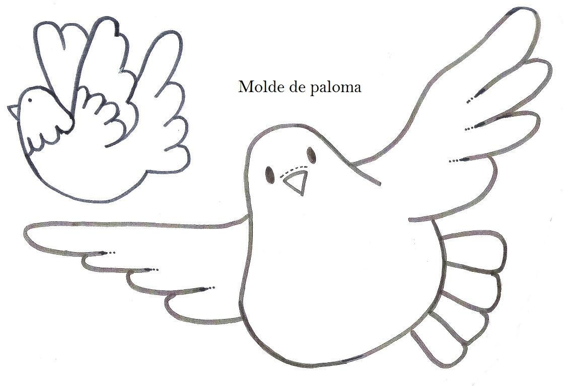 2 palomas para colorear ~ Imagenes de palomas