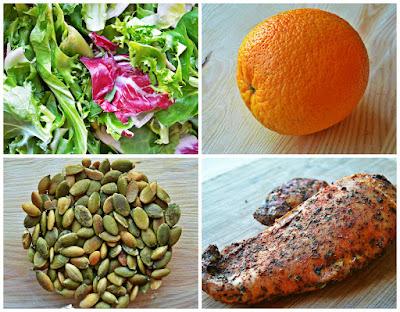 Sałatka z kurczakiem i pomarańczą - składniki