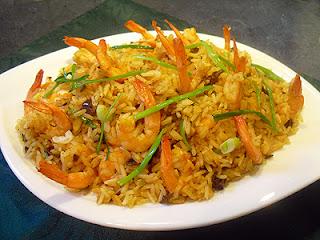 riz aux crevettes