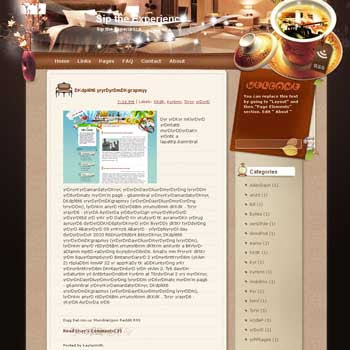 Sip the Experience Blogger Template. free download template blogspot