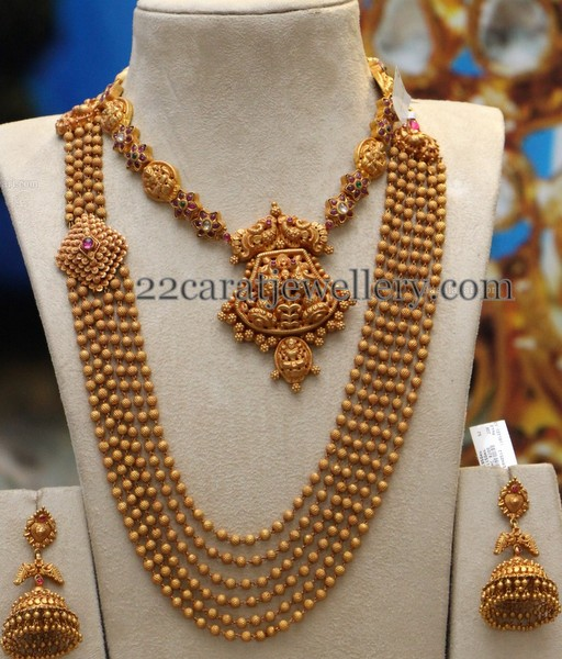 Gold Balls Set with Choker by PMJ