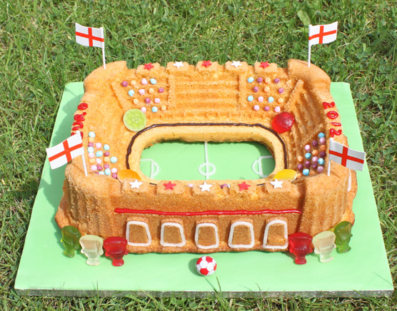 Euro 2012 Orange Flavoured Stadium Bundt Cake