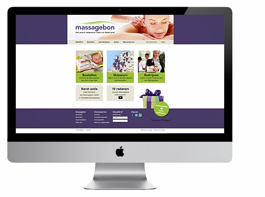 Website ontwerp Massagebon