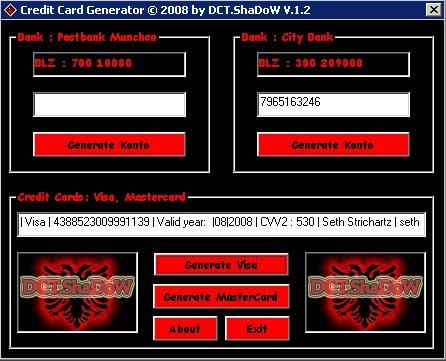 Credit Card Generator With cvv no.