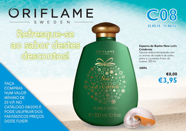 Flyer do Catálogo 08 de 2015 da Oriflame