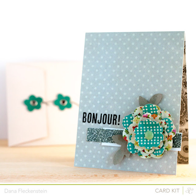 Bonjour Handmade Card using the Studio Calico Front Row Kit by pixnglue