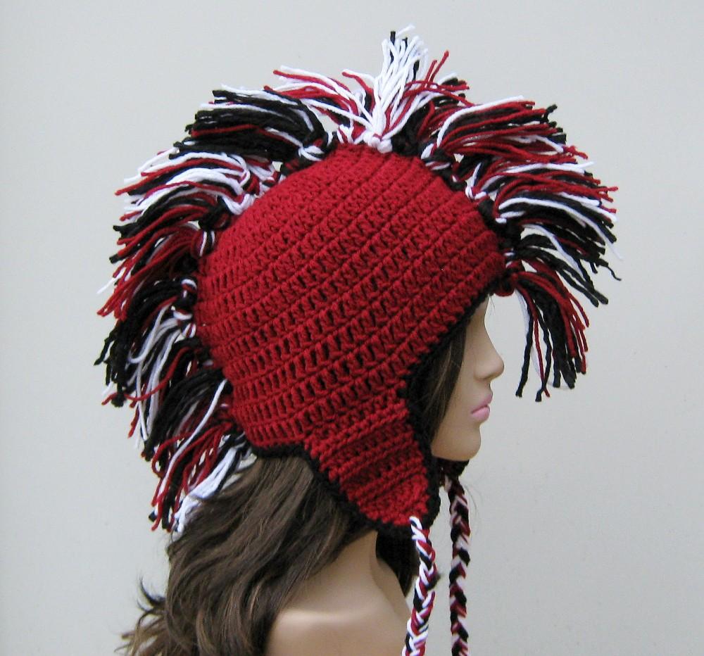Knit Mohawk Hat Pattern : Purple Sage Designz Hippie Patchwork Tams Party Invitations Ideas