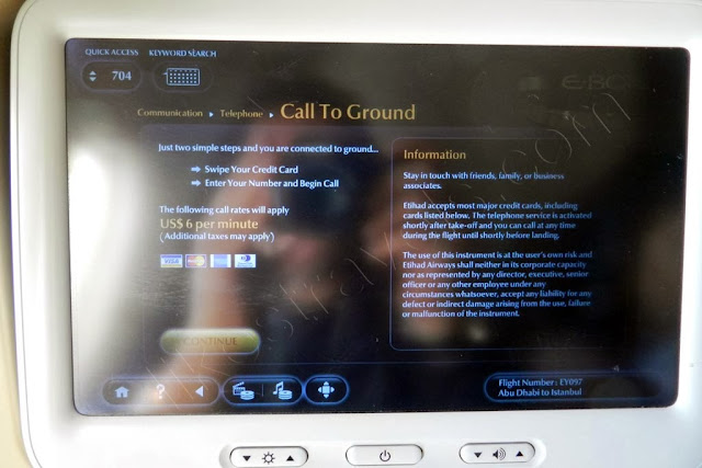 Etihad E-BOX In-flight Entertainment System - Communication possibilities