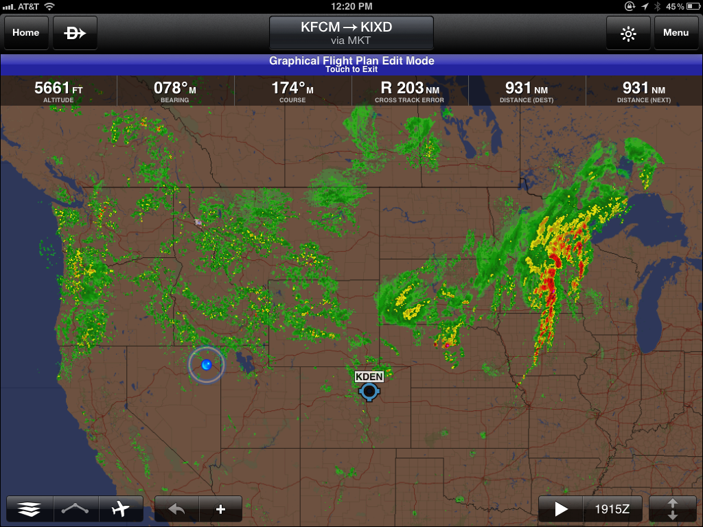 everything to the north and west of us was wet too here is what my garmin pilot app was showing me for weather radar