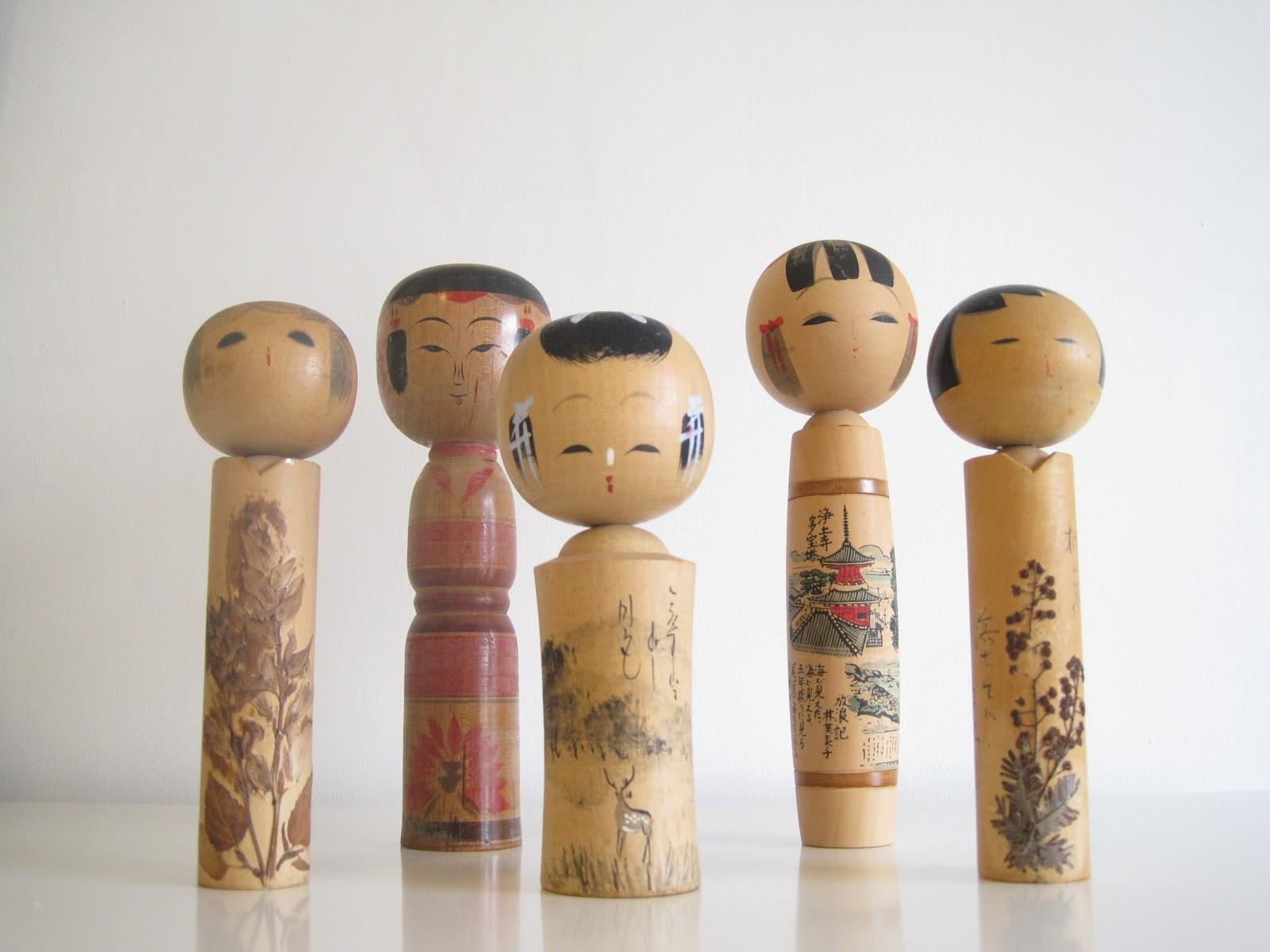 Scarlet pyjamas kokeshi dolls for Japan craft