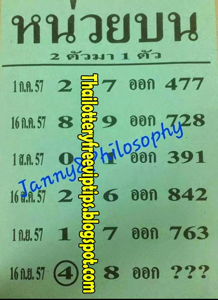 Touch tip paper 16 09 2014 thai lottery thailand lottery thai lotto