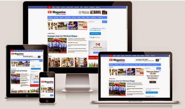 CB Magazine - Free Responsive Magazine News Style Blogger Template