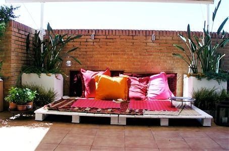 Lovepops decoraci n de exteriores con palets - Palets para decoracion ...