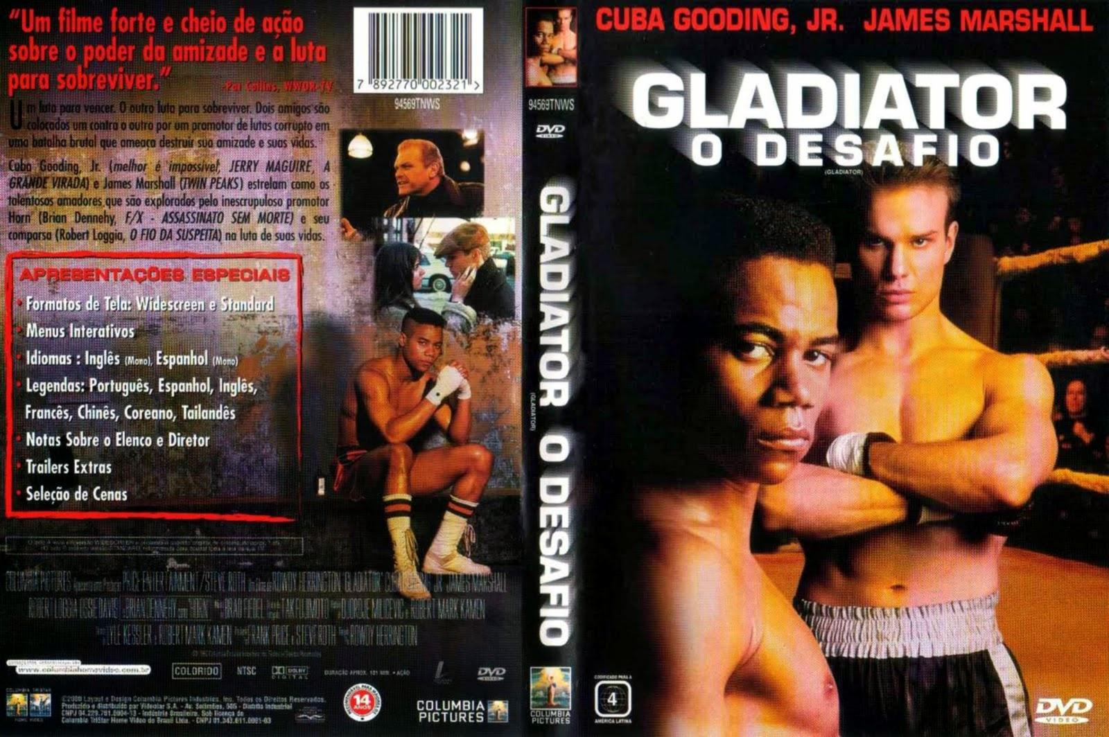 Capa DVD Gladiator O Desafio