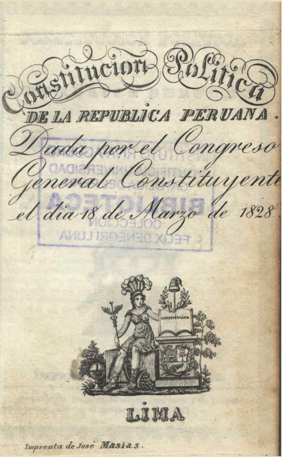 Constitución Política de la República Peruana 1828