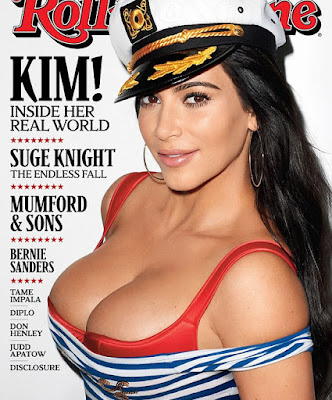 Kim Kardashian Rolling Stone funny semen
