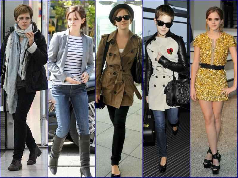 Casual And Cool Impression Fashion Style Emma Watson Old V