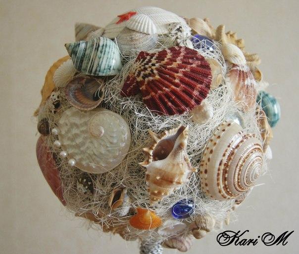 Топиарий с морскими ракушками