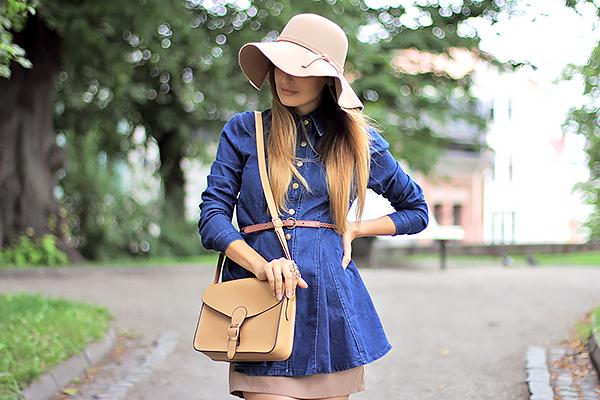 jeans dress hat