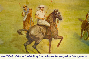 Polo Prince weilding Polo Mallet on Polo Club Ground