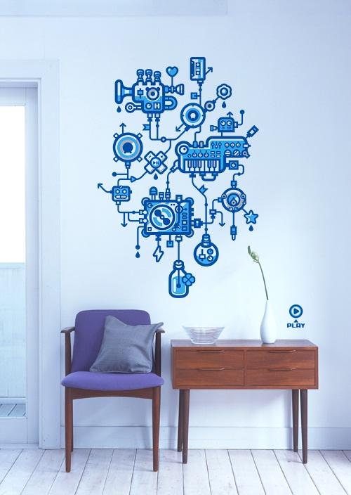 Decora y disena 10 ideas para decorar las paredes con for Adhesivos para decorar