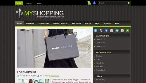 My Shopping - Free Blogger Template