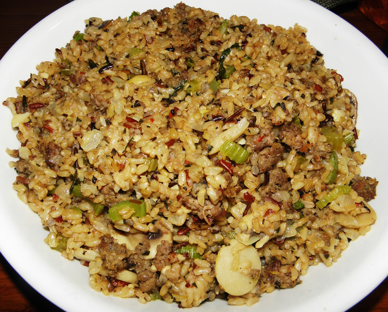 Brown, wild rice and sage sausage stuffing | Buen Provecho Enjoy Your ...