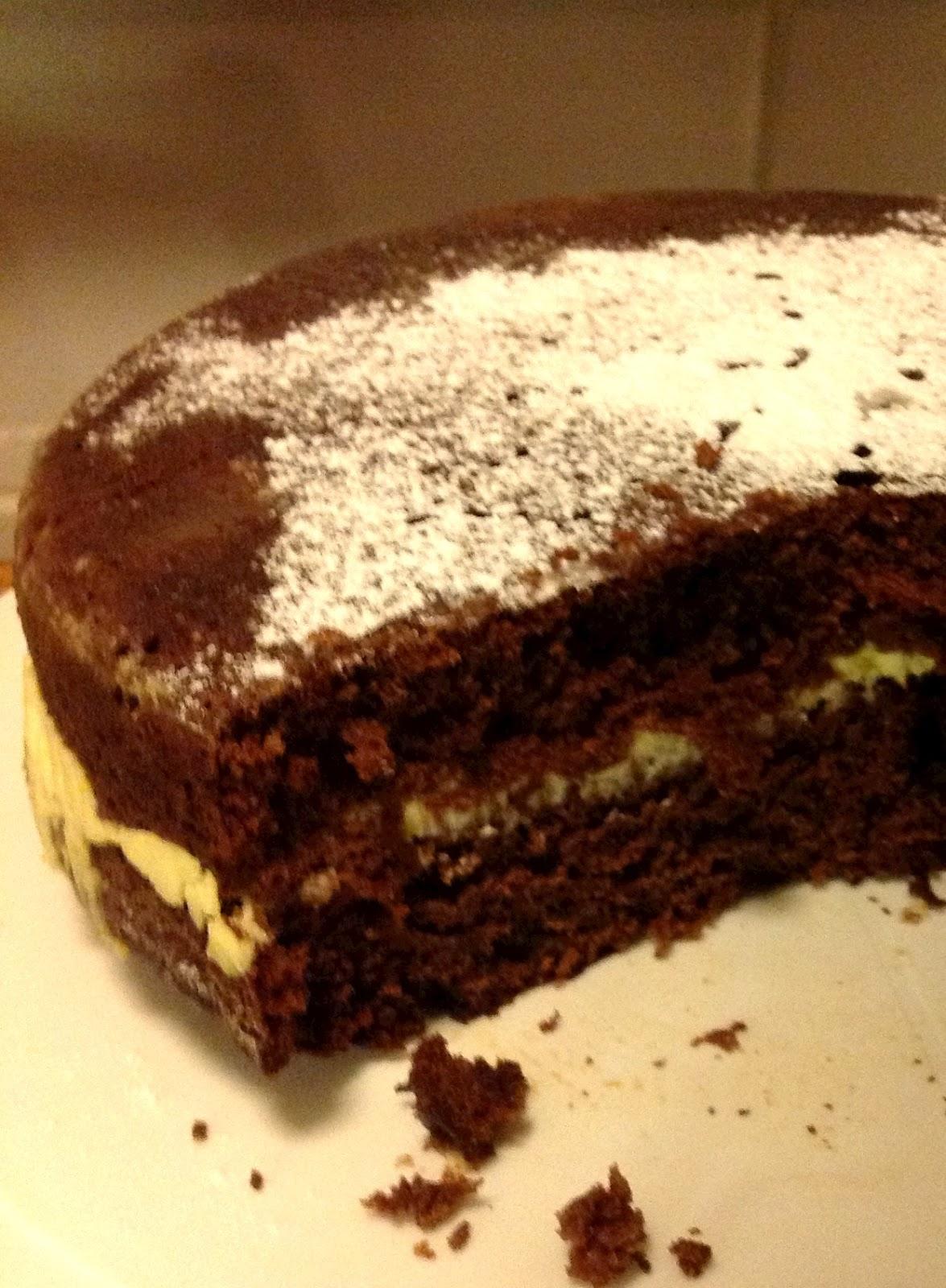 sekoitettava suklaakakku
