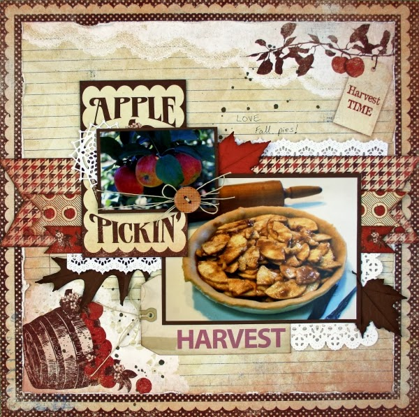 One scrap at a time apple pickin 39 scraptown lady for Scrapbooking cuisine